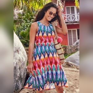 Athleta Ikat Martinique Casual Day Colorful Dress